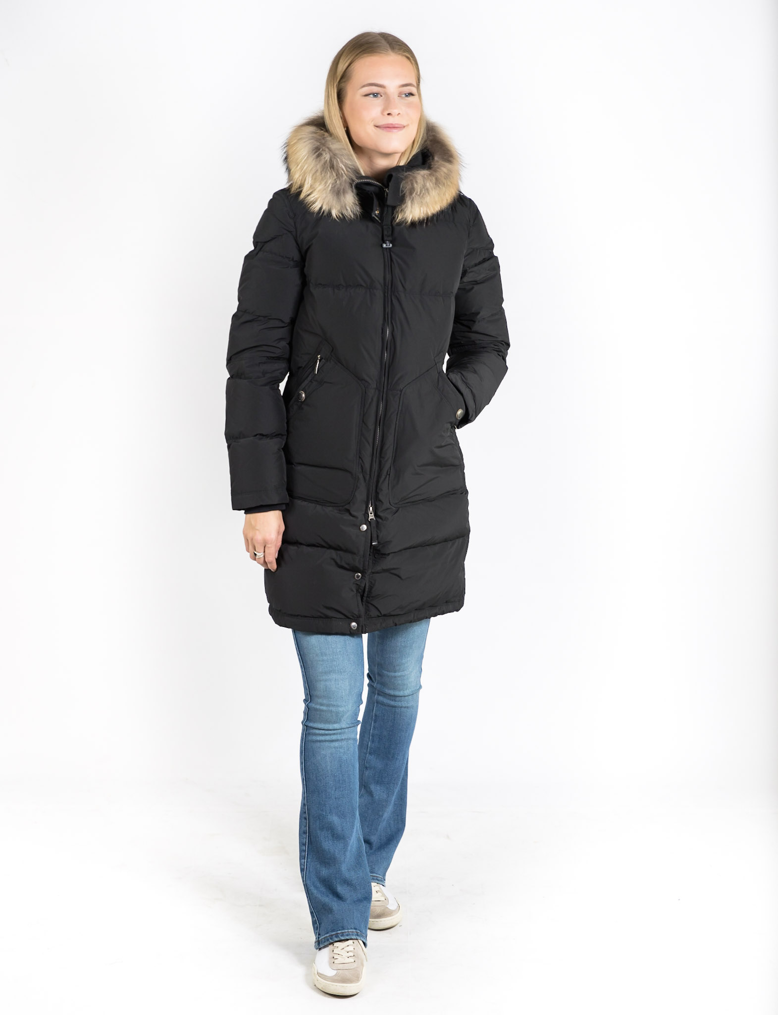 PARAJUMPERS LIGHT LONG BEAR BLACK m.a.s.